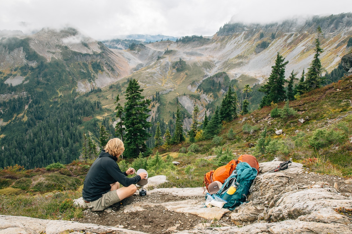 Backpacking in the Cascades, Washington