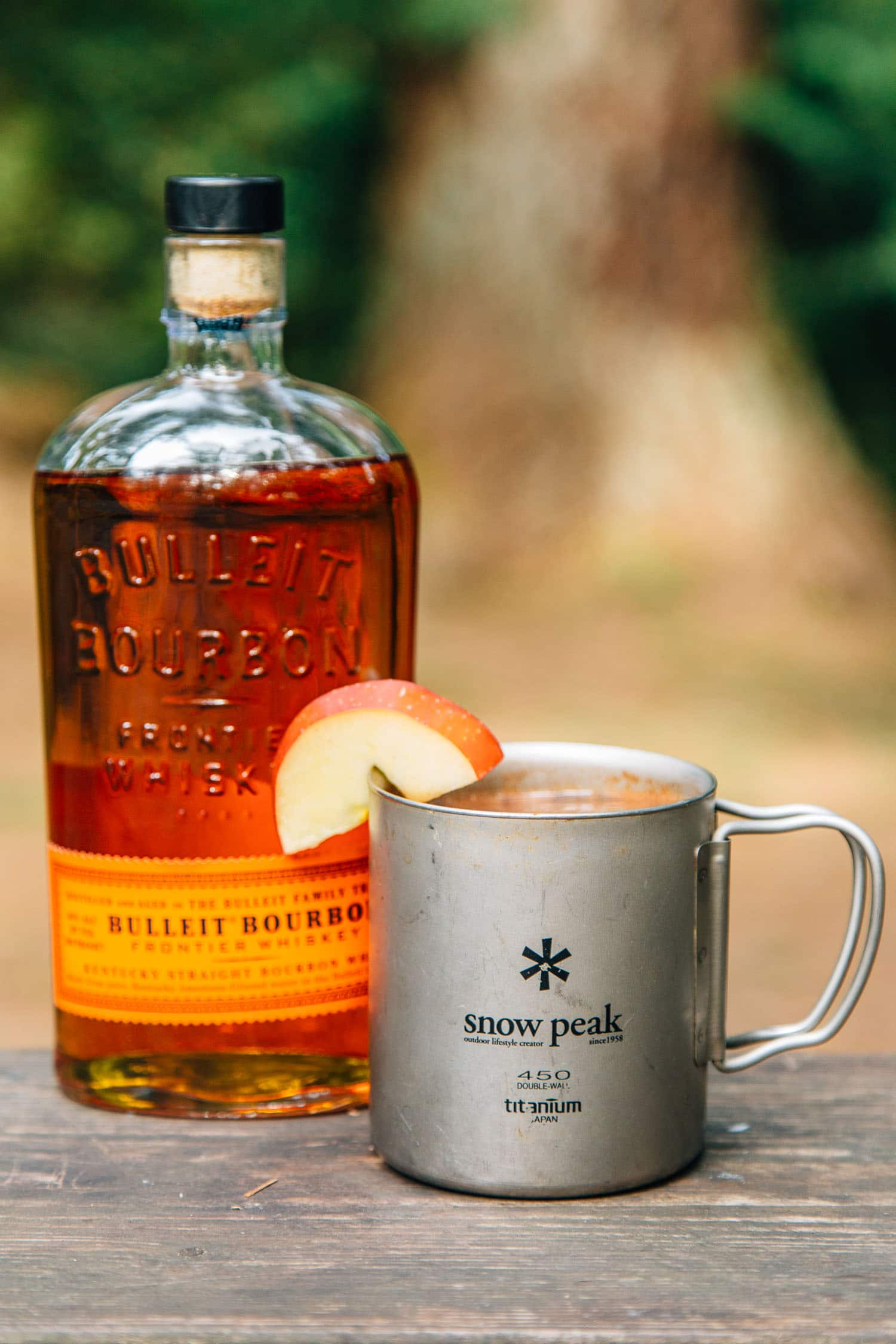 Bourbon spiked apple cider for Hot tea with whiskey