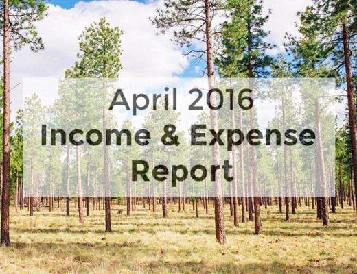 Fresh Off the Grid's Food and Outdoor Travel Blog Income Report - April 2016