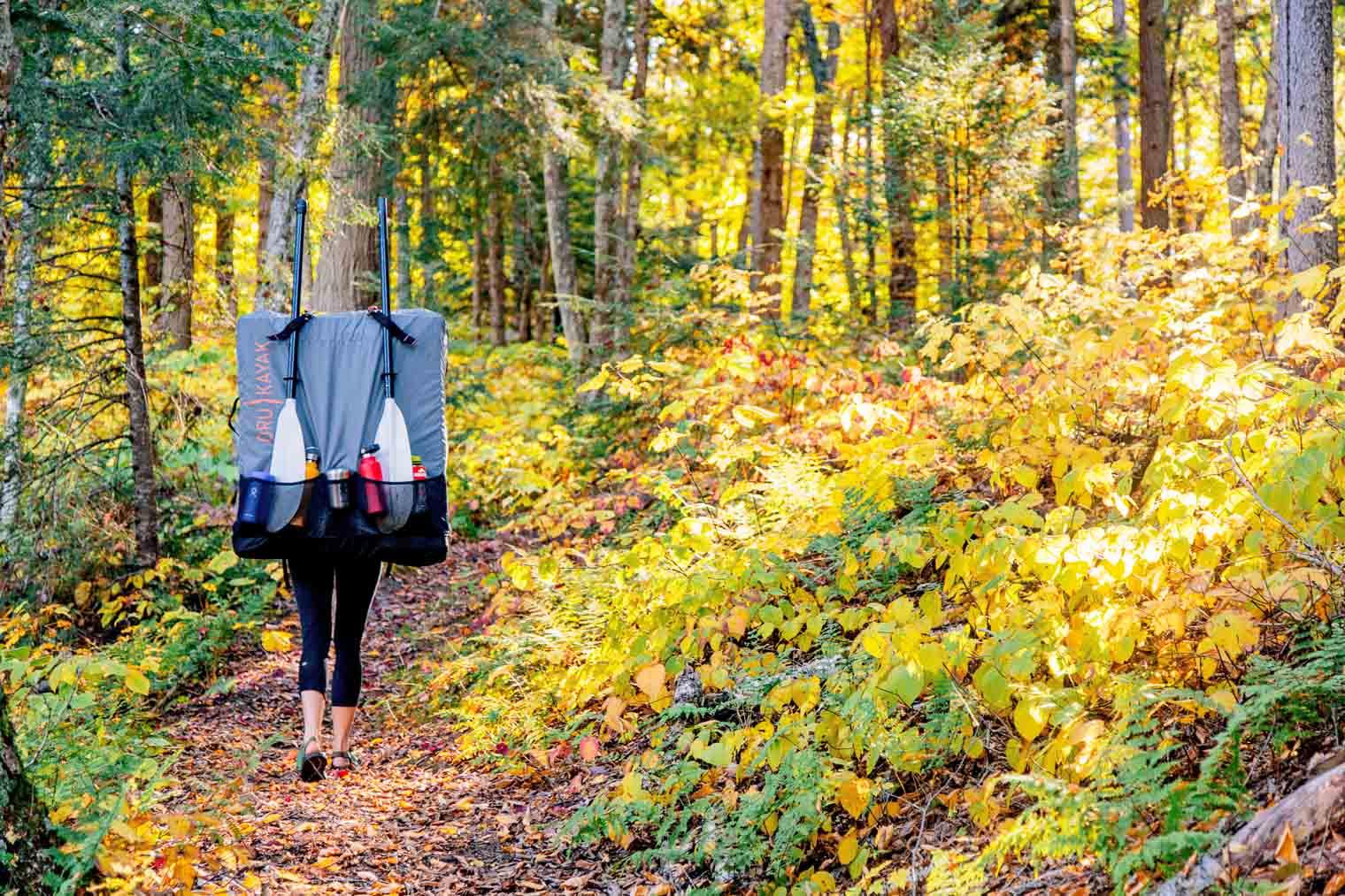 Hiking with the foldable Oru Kayak