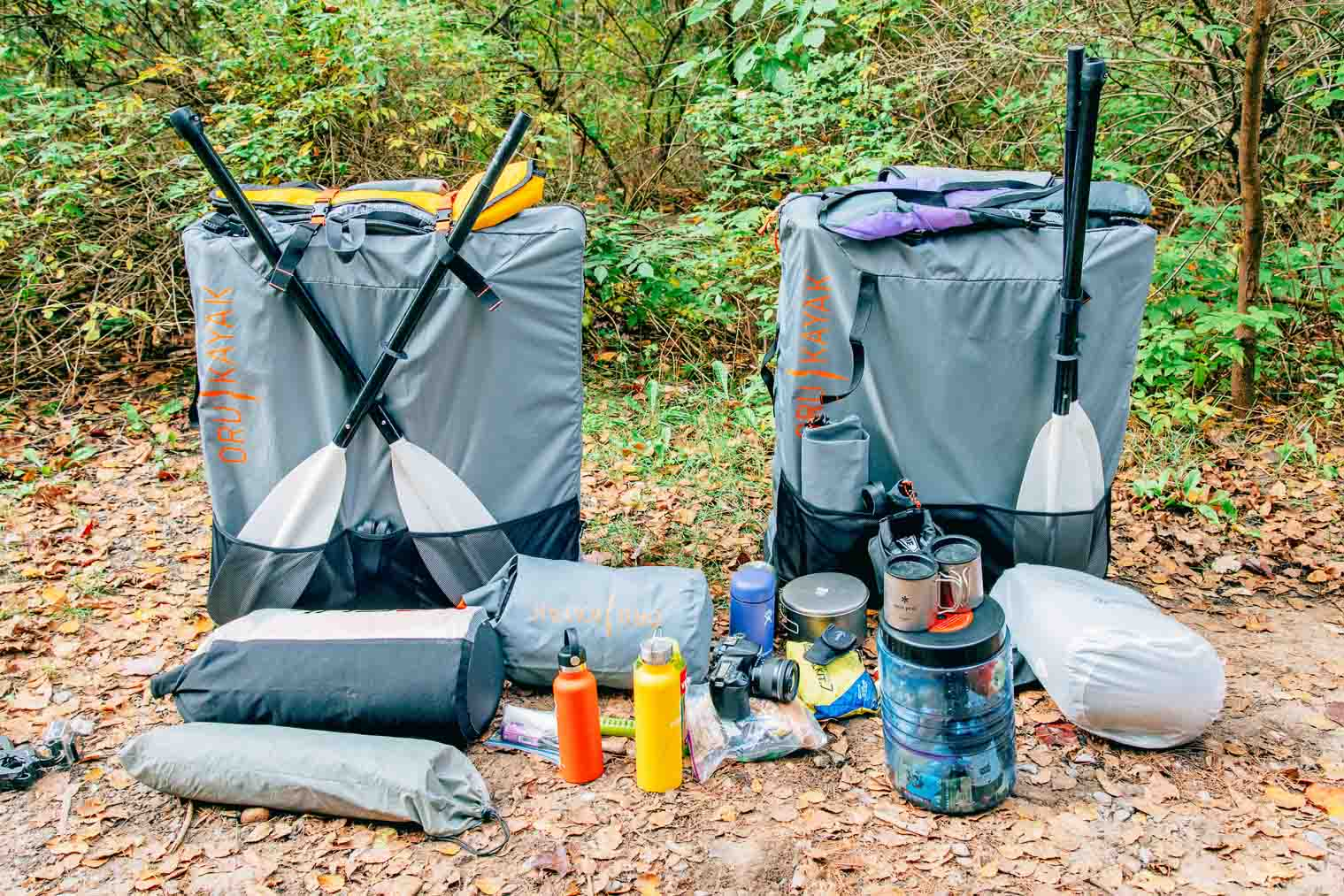 Overnight kayak camping gear