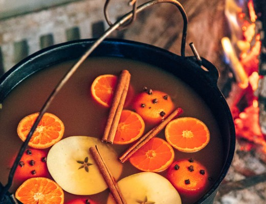This easy candied apple cider is perfect for a weekend cabin getaway or for sipping around a campfire.