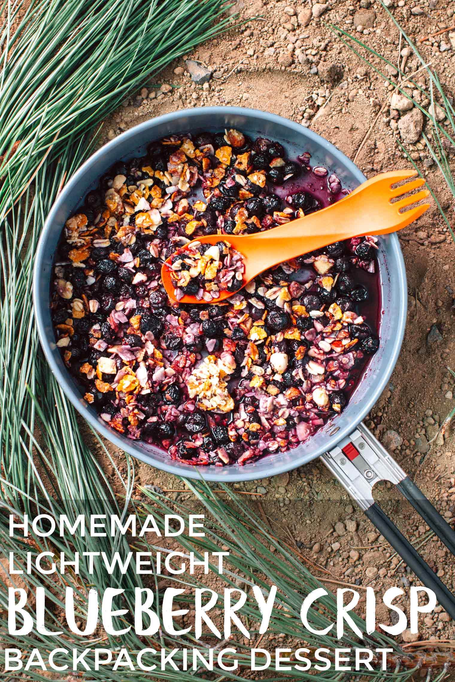 This DIY lightweight backpacking dessert will satisfy your sweet tooth on the trail. Get the recipe for this Backpacker's Blueberry Crisp here!