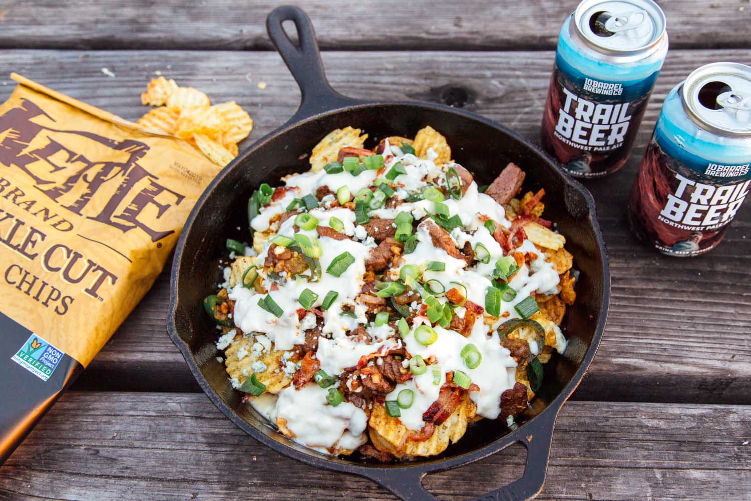 Steak & Blue Cheese Cast Iron Skillet Nachos