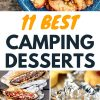 "Pinterest graphic with text overlay reading ""11 Best Camping Desserts"""