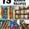 "Pinterest graphic with text overlay reading ""15 Grilled Kabob Recipes"""
