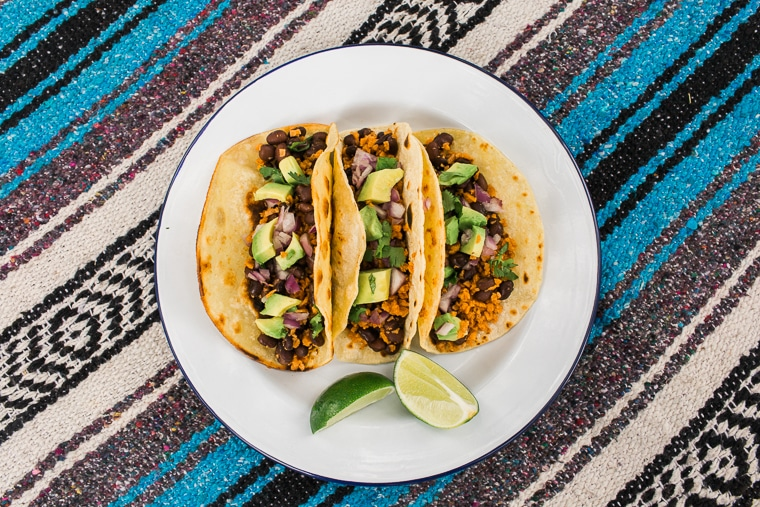 Vegan tacos are a surprisingly easy camp meal. This fast & easy recipe will have you enjoying your favorite street food in the great outdoors!