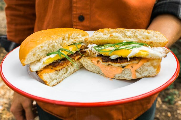 Grilled Halloumi Breakfast Sandwich