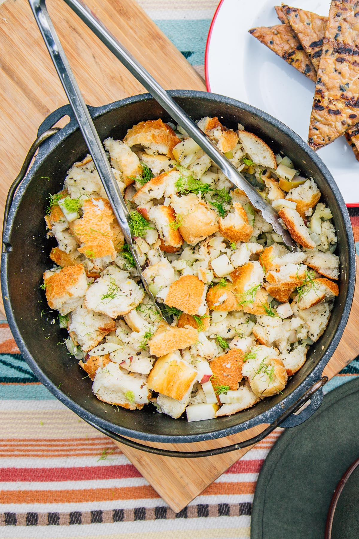 An easy Thanksgiving side: Apple Fennel Stuffing