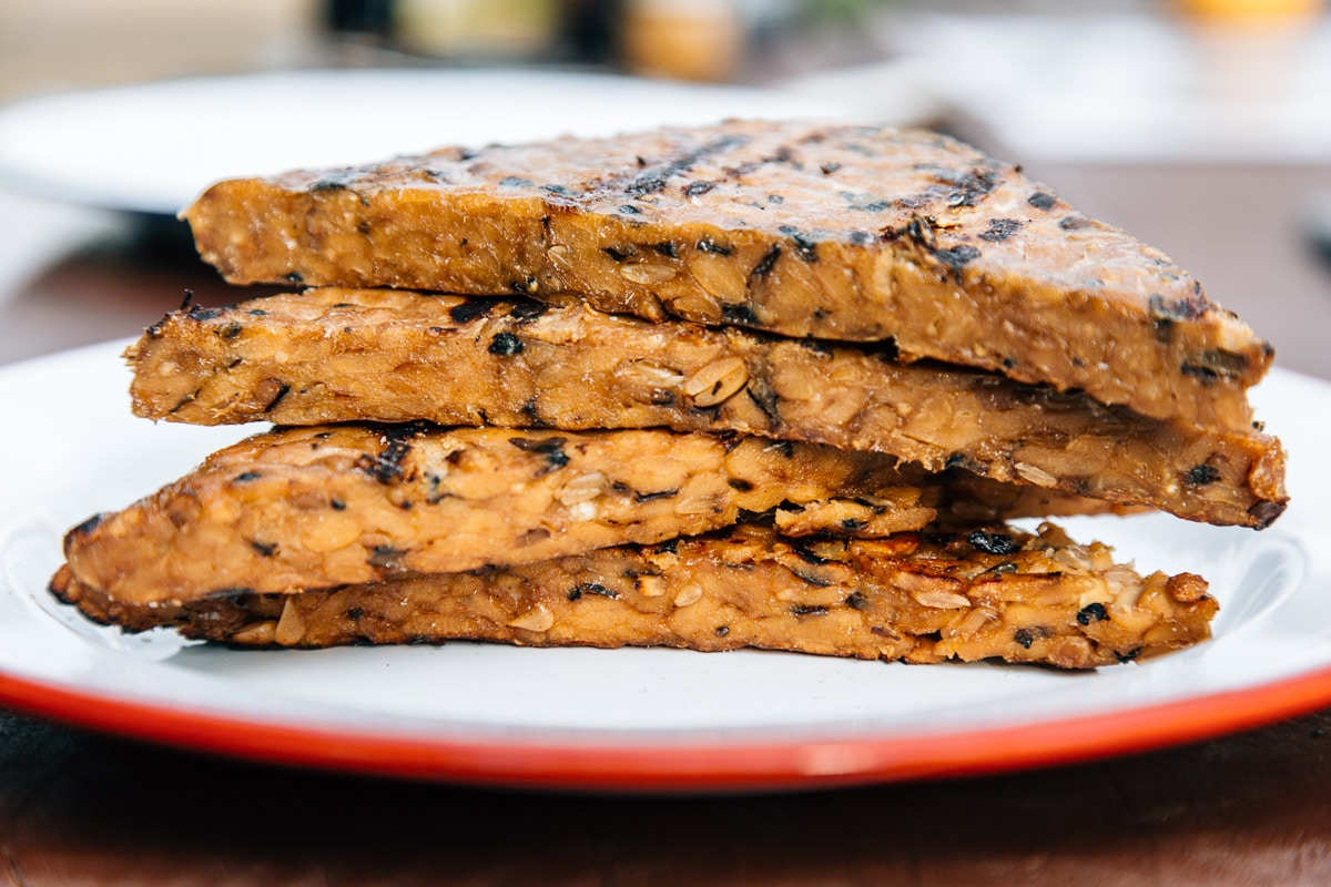 Sweet & Savory Maple Soy Grilled Tempeh