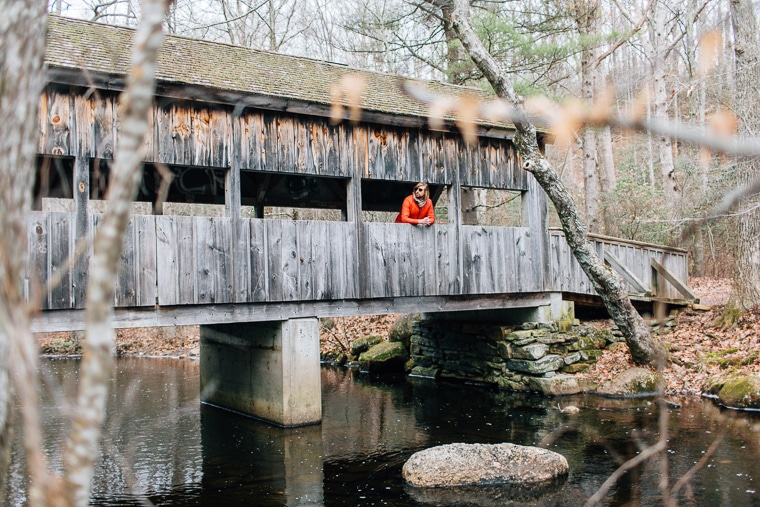 Covered Bridge at Devil's Hopyard State Park
