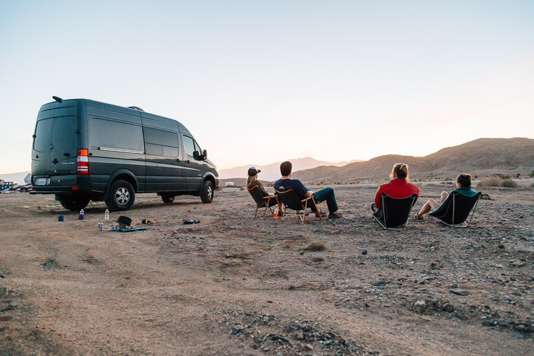 Sprinter 4x4 Camper Van in Anza Borrego State Park