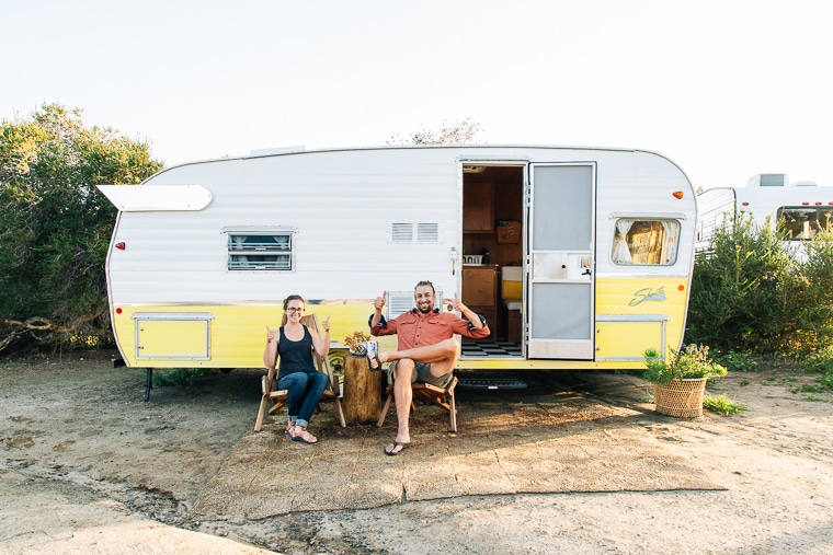 Camping in a vintage Shasta Trailer   The Holidays CA Camp Community