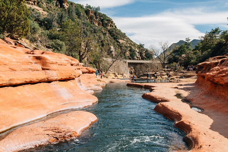 The swimming hole at slide rock state park in Sedona