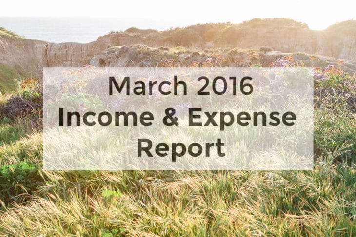 March 2016 income and expense report
