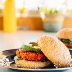 Southwestern Sweet Potato Bean Burger: The perfect veggie burger for your next camping trip!