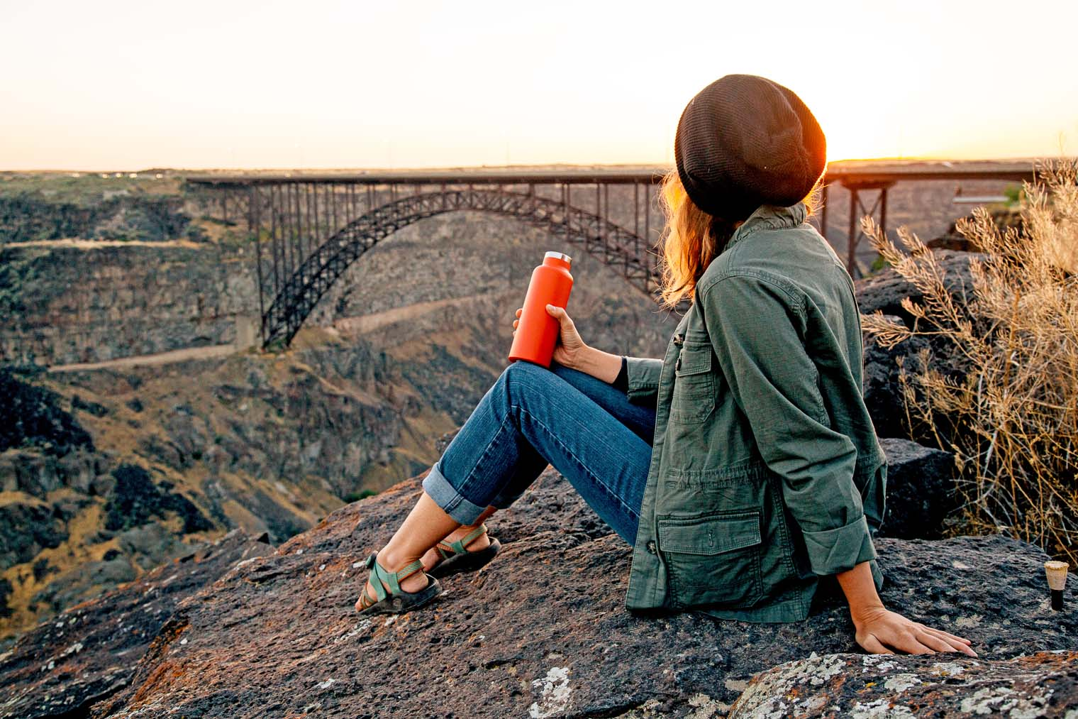 Sunrise over the Perrine Bridge, Twin Falls, Idaho