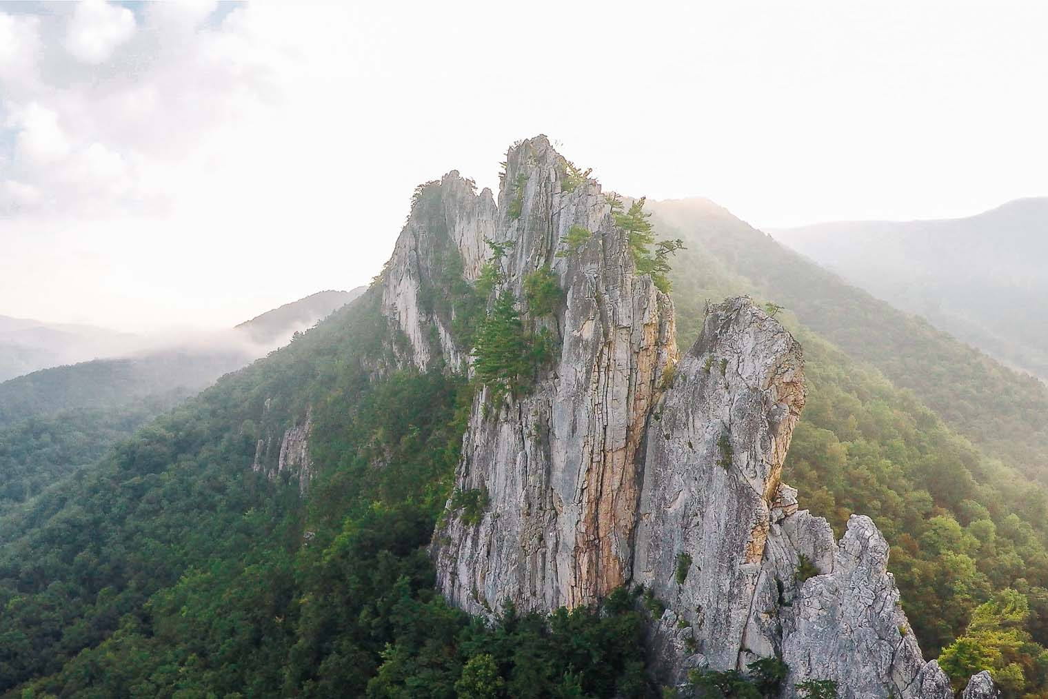 Seneca Rocks in West Virginia
