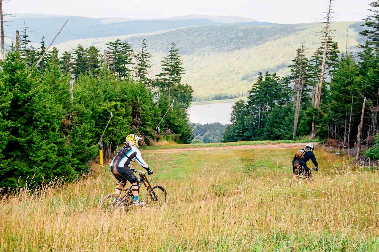 Downhill Mountain Biking at Snowshoe in West Virginia