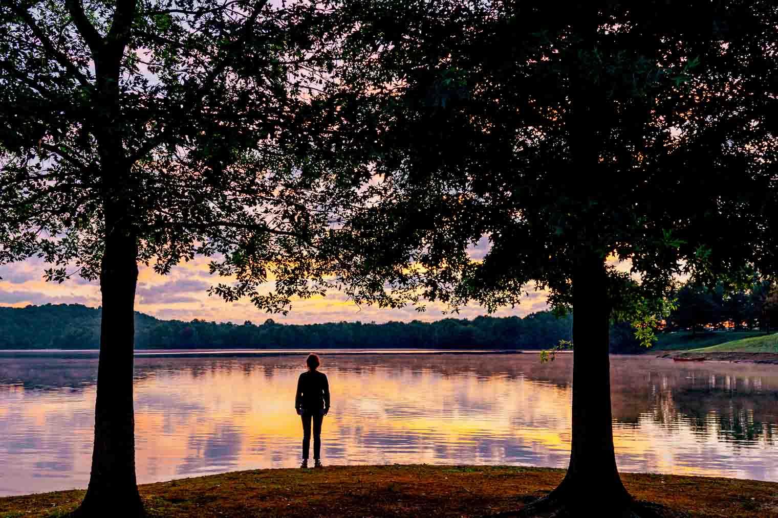 Sunrise at Summersville Lake in West Virginia