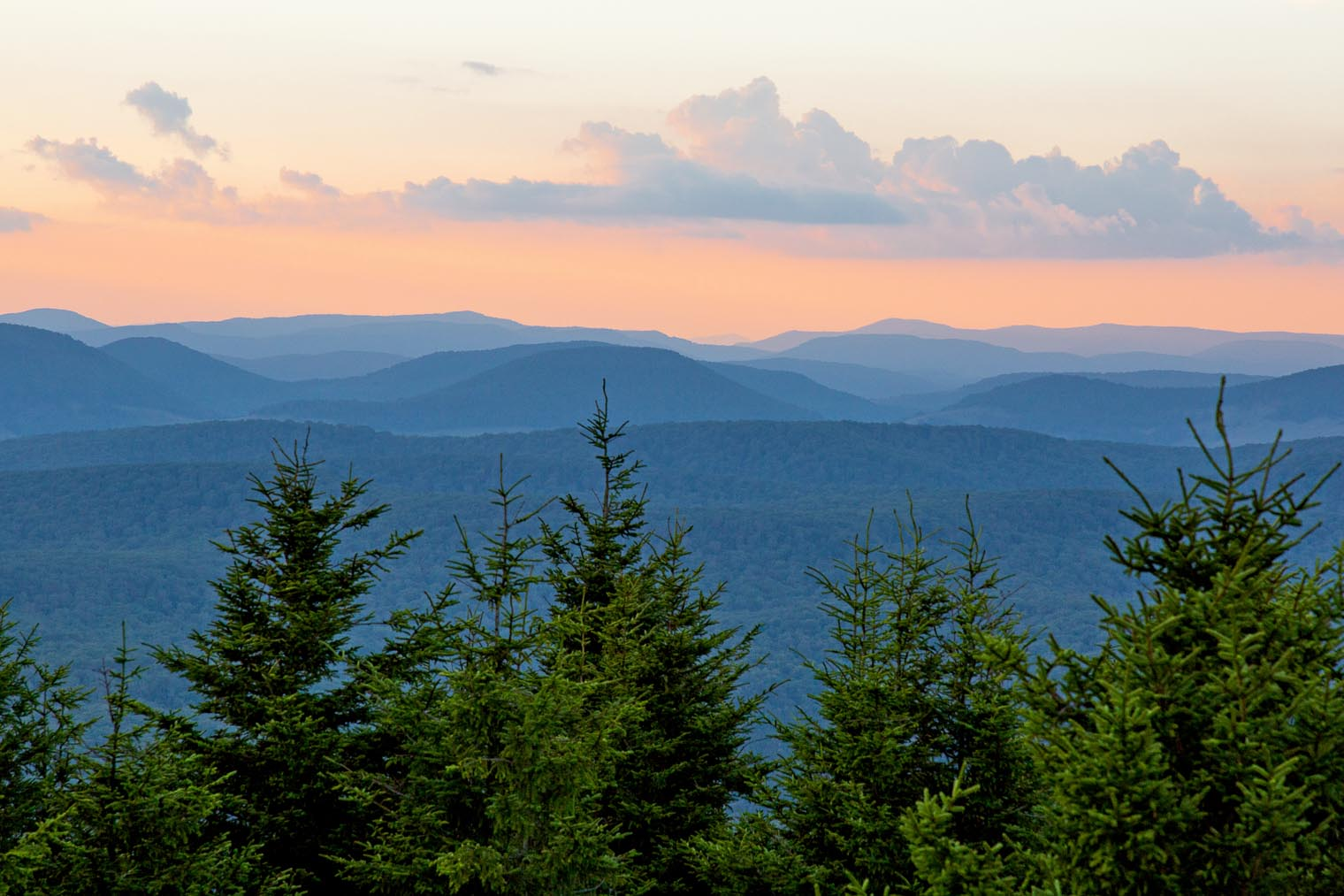View from Spruce Knob West Virginia