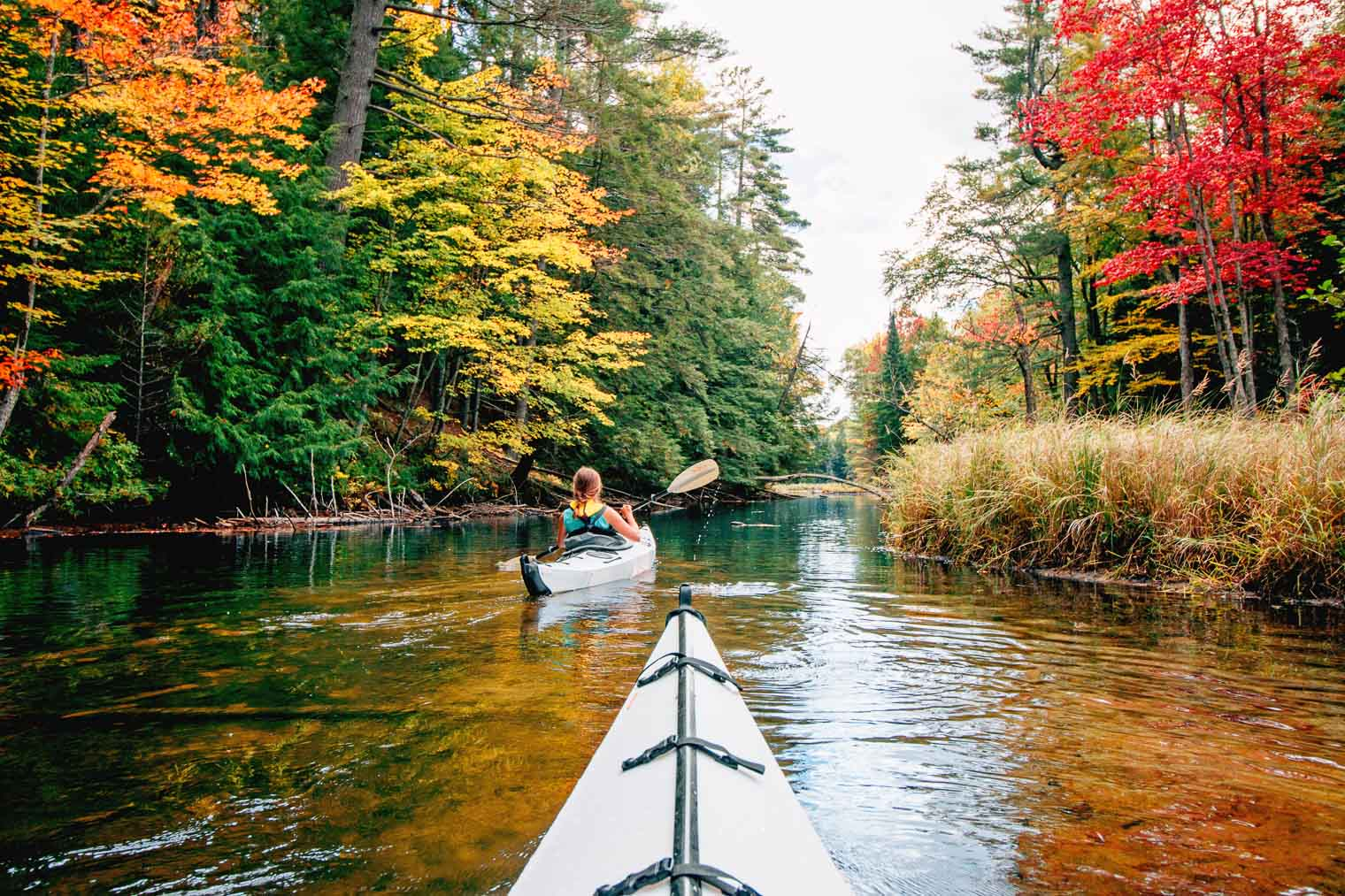 Autumn kayak camping in the Adirondacks.