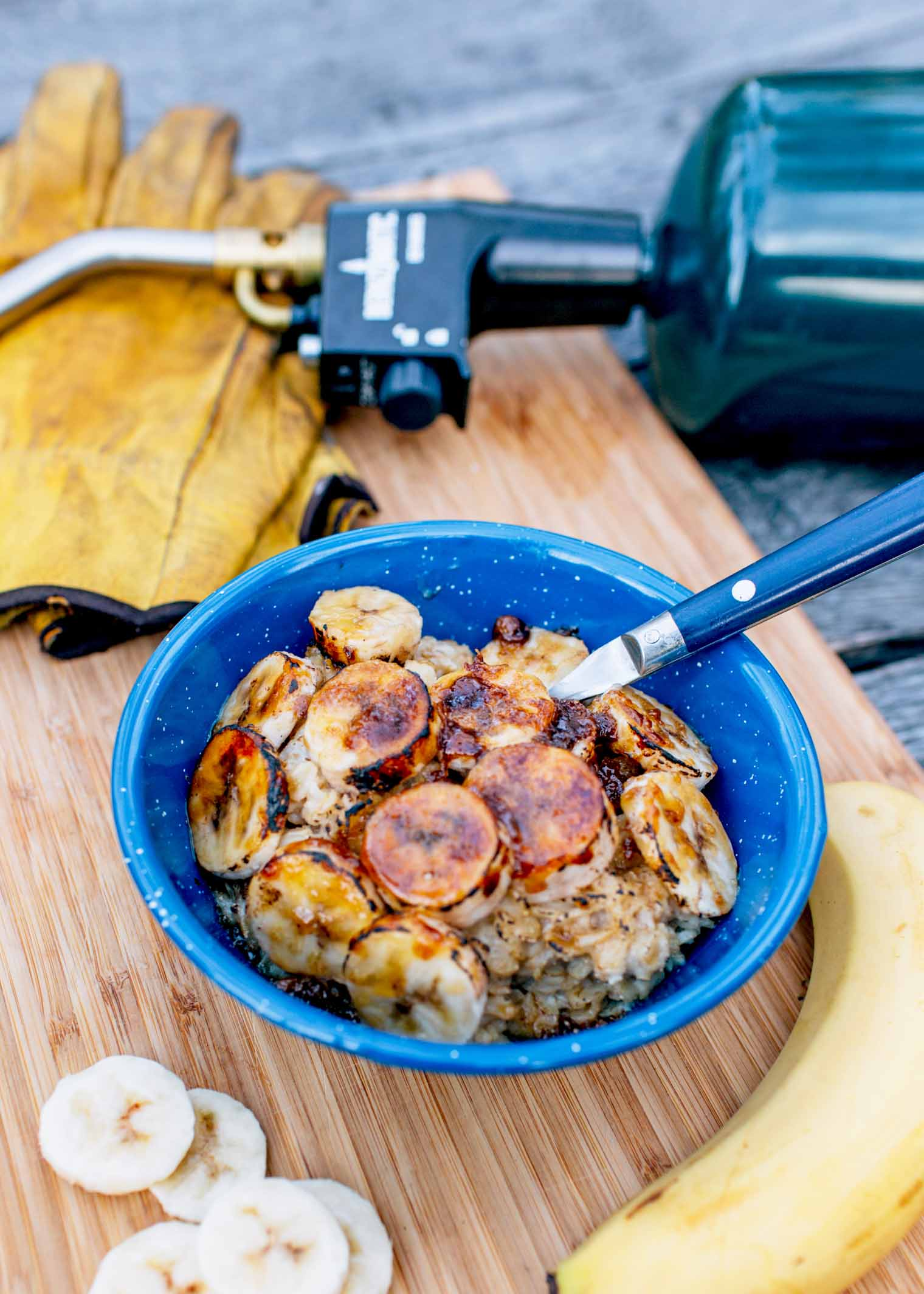Take breakfast up a notch with this brûléed banana oatmeal.