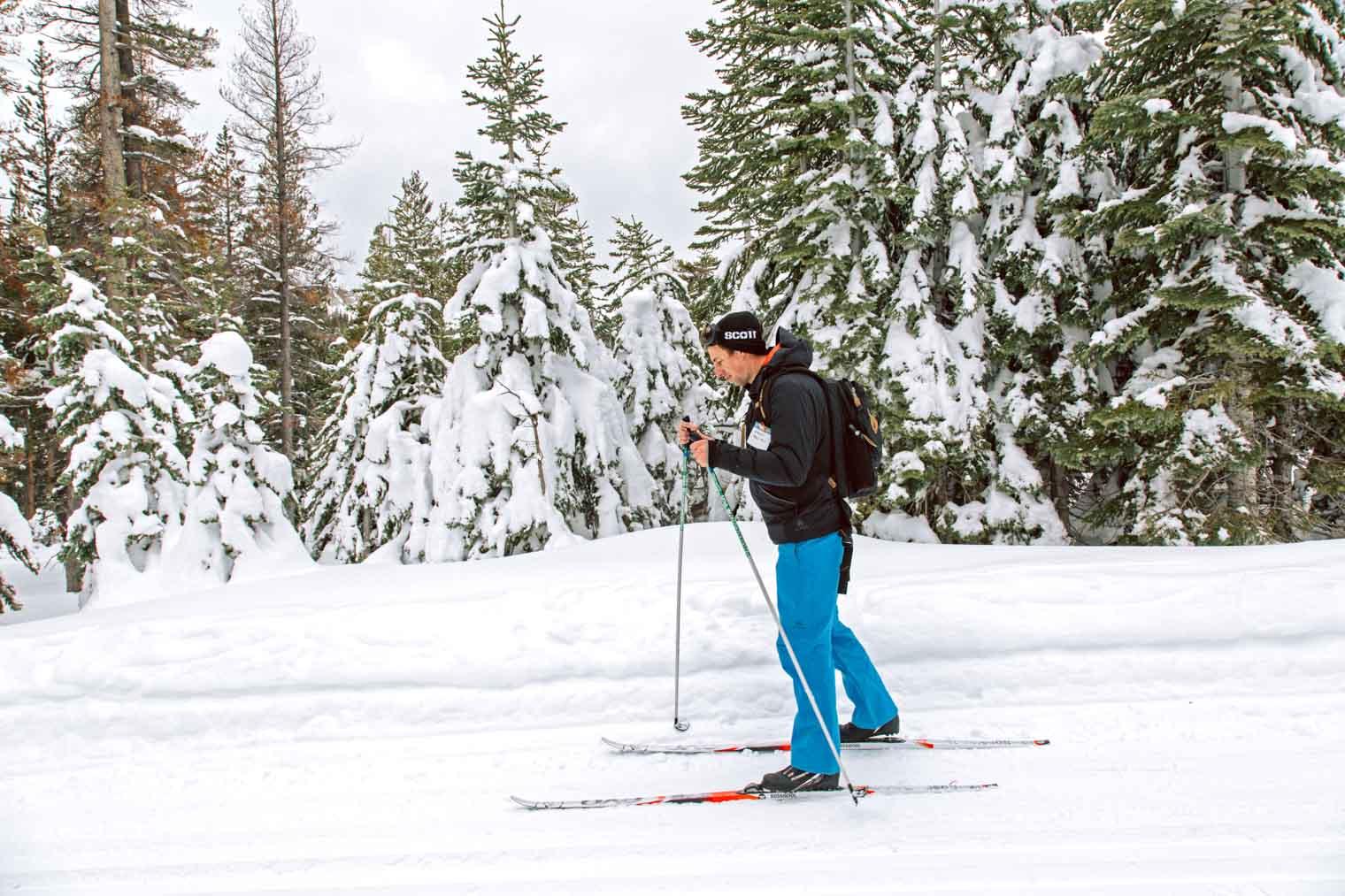 Michael cross country skiing