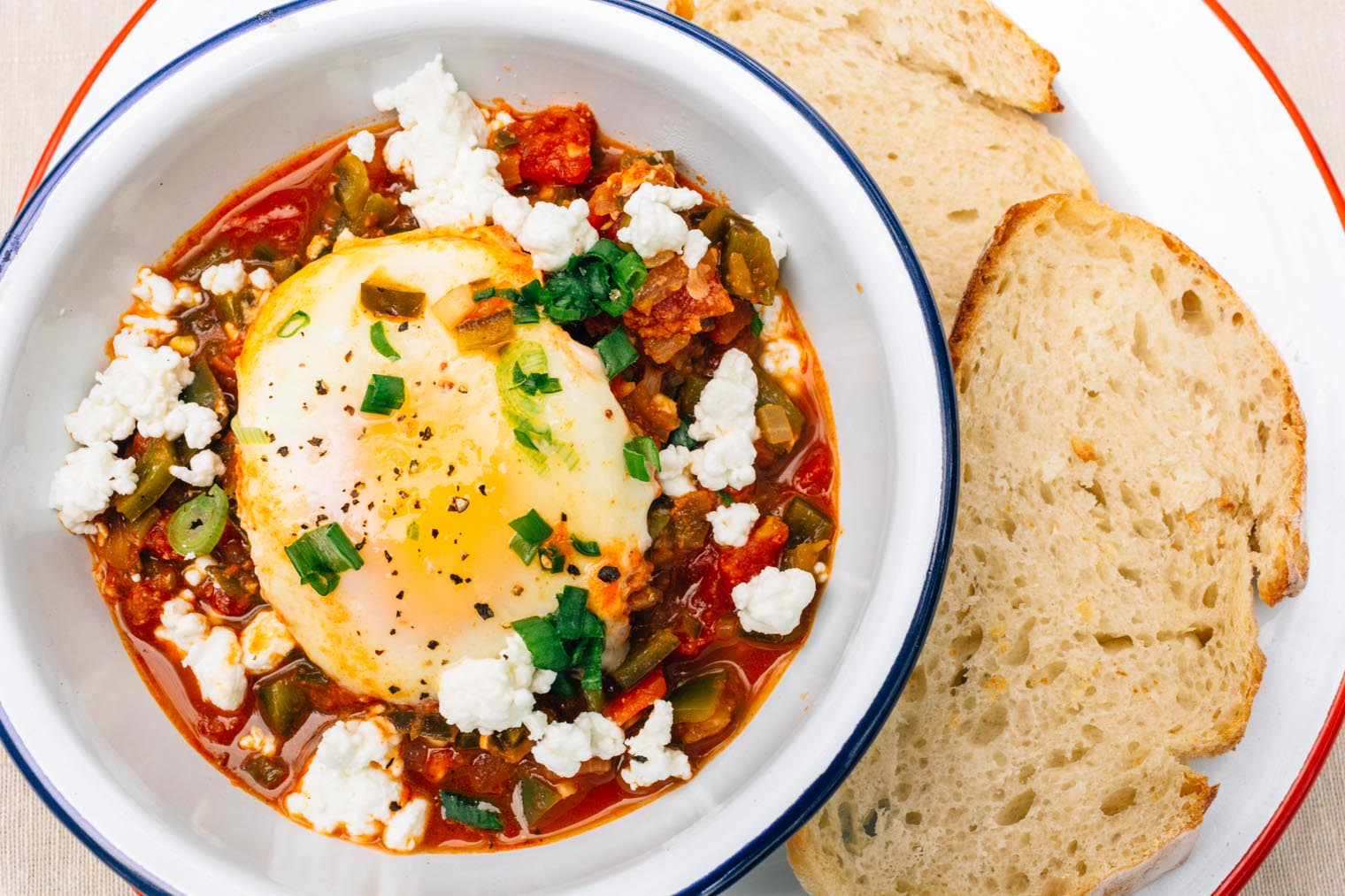 Shakshuka is an easy one pot camping meal for either breakfast or dinner.