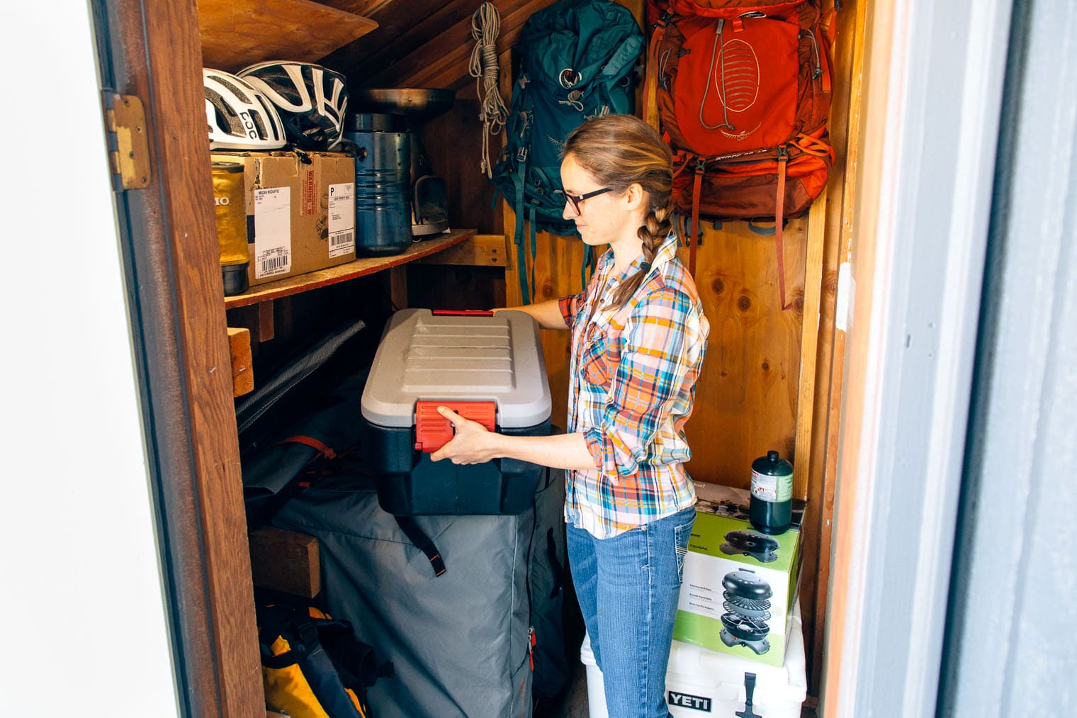 Action Packers are a great way to store all of your camping gear and keep it organized.