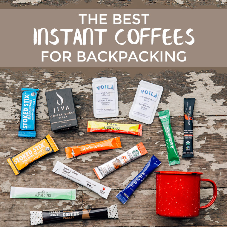 We review 10 single serve instant coffees to find the best instant coffee for backpacking trips.