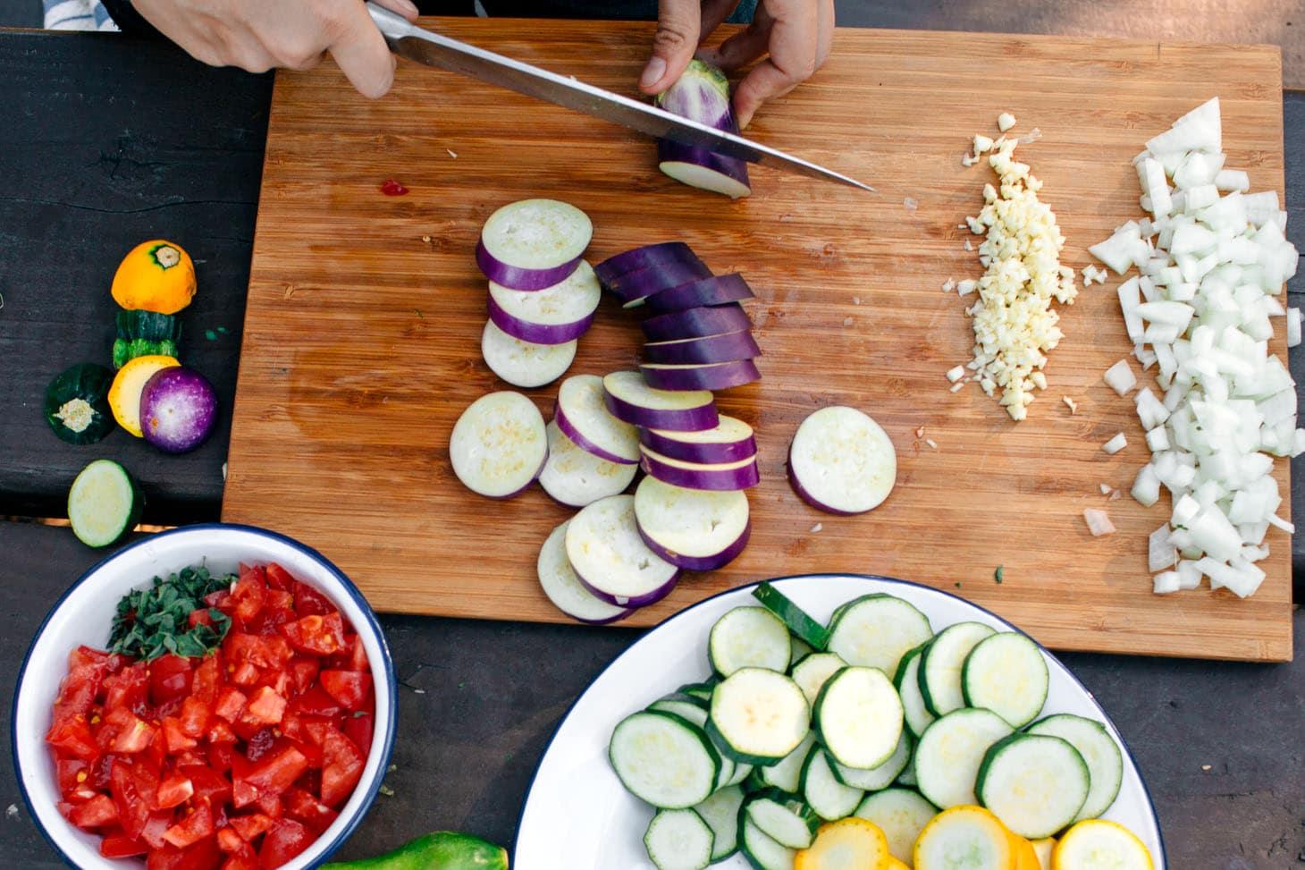 Summer vegetables for grilling