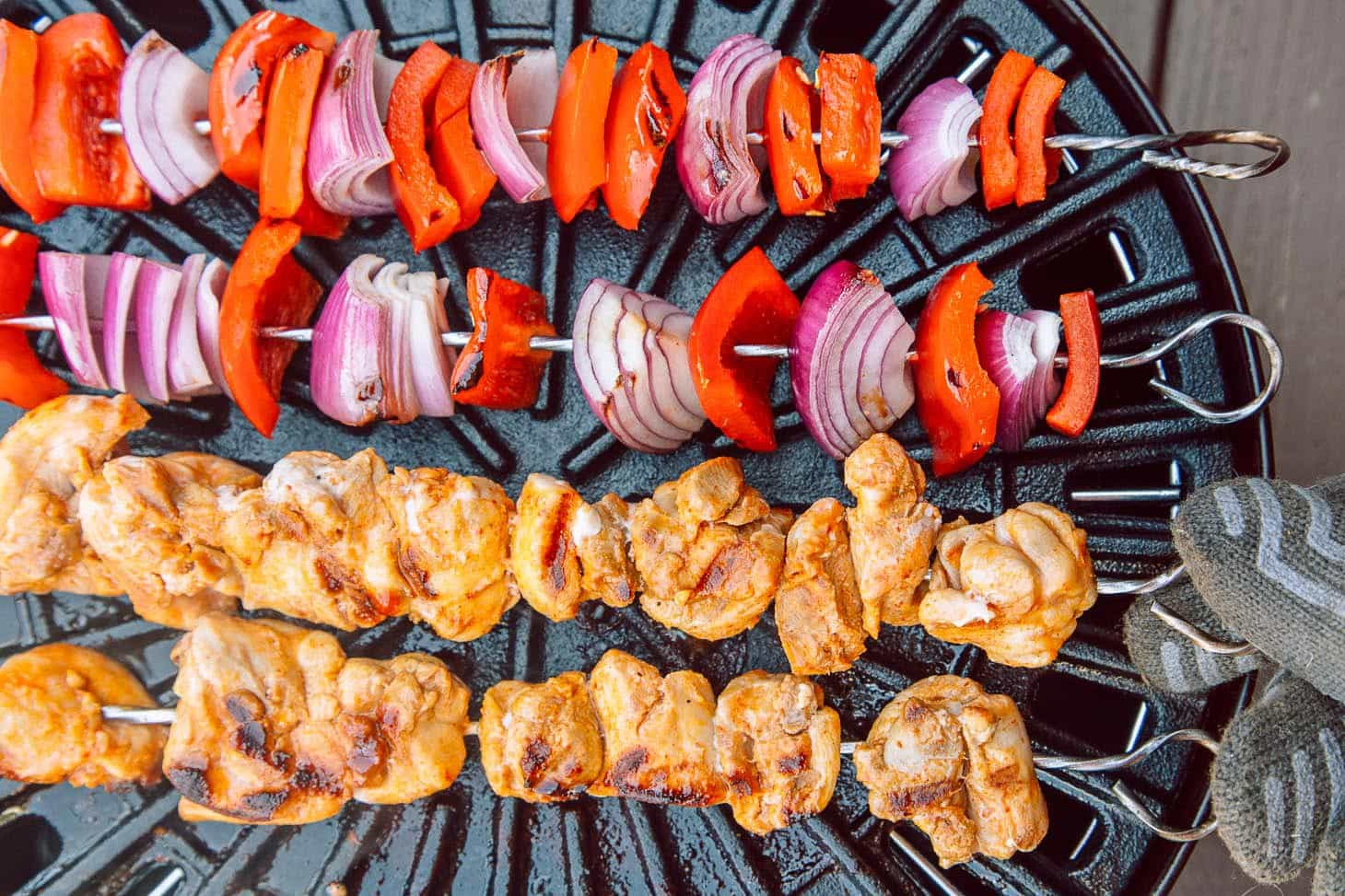 These satay-inspired Thai Grilled Chicken Skewers are perfect for cooking right on the campfire.