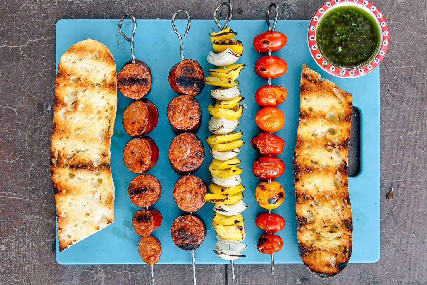 Grilled Chorizo Kebabs Campfire Recipe