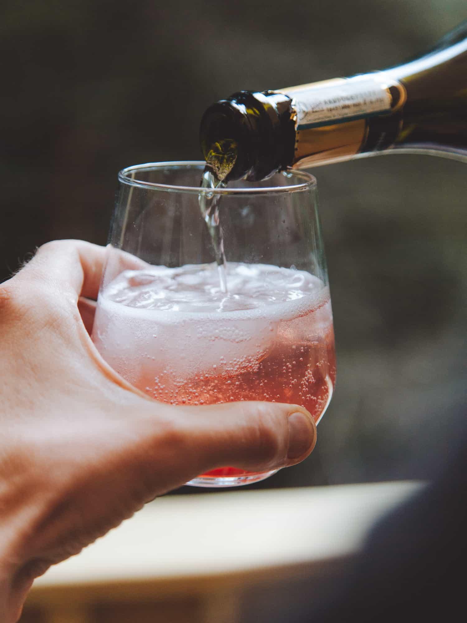 Plum Prosecco Spritz cocktail