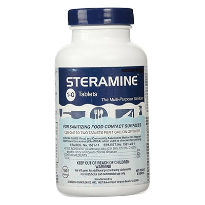 Bottle of Steramine