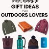 "Pinterest graphic with text overlay reading ""Sustainable gift ideas for outdoor lovers"""