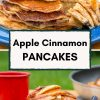 """Pinterest graphic with text overlay reading """"Apple cinnamon pancakes"""""""