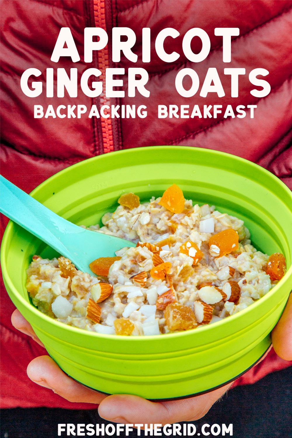 With an exotic sweet and spice combo, this Apricot Ginger Oatmeal is a great way to shake up your morning oats on your next backpacking trip. This easy backpacking breakfast can be assembled at home before your trip and cooks in one pot in less than 10 minutes in camp! via @freshoffthegrid
