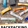 "Pinterest graphic with text overlay reading ""Backpacking instant coffee"""