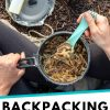 """Pinterest graphic with text overlay reading """"Backpacking Beef Stroganoff"""""""