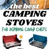 """Pinterest graphic with text overlay reading """"the best camping stoves for aspiring camp chefs"""""""