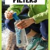 """Pinterest graphic with text overlay reading """"Best water filters for backpackers, hikers and campers"""""""