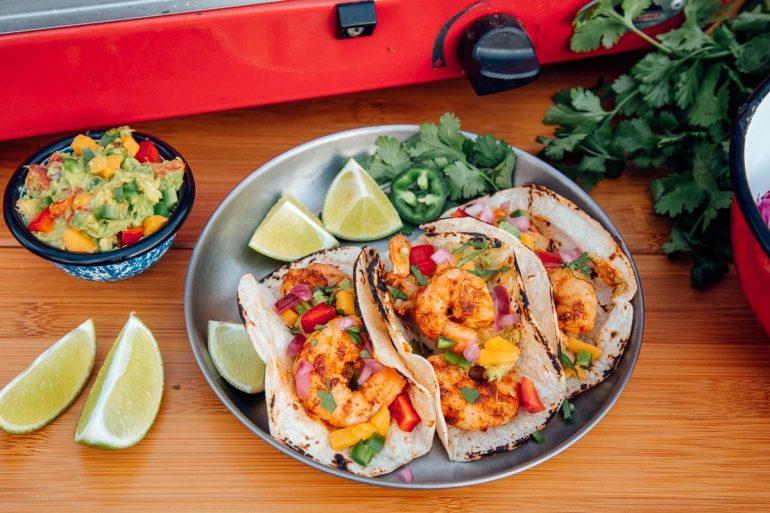Cajun Blackened Shrimp Tacos