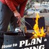 """Pinterest graphic with text overlay reading """"How to plan a camping trip and 10 last minute meal ideas"""""""
