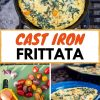 """Pinterest graphic with text overlay reading """"Cast Iron Fritatta"""""""