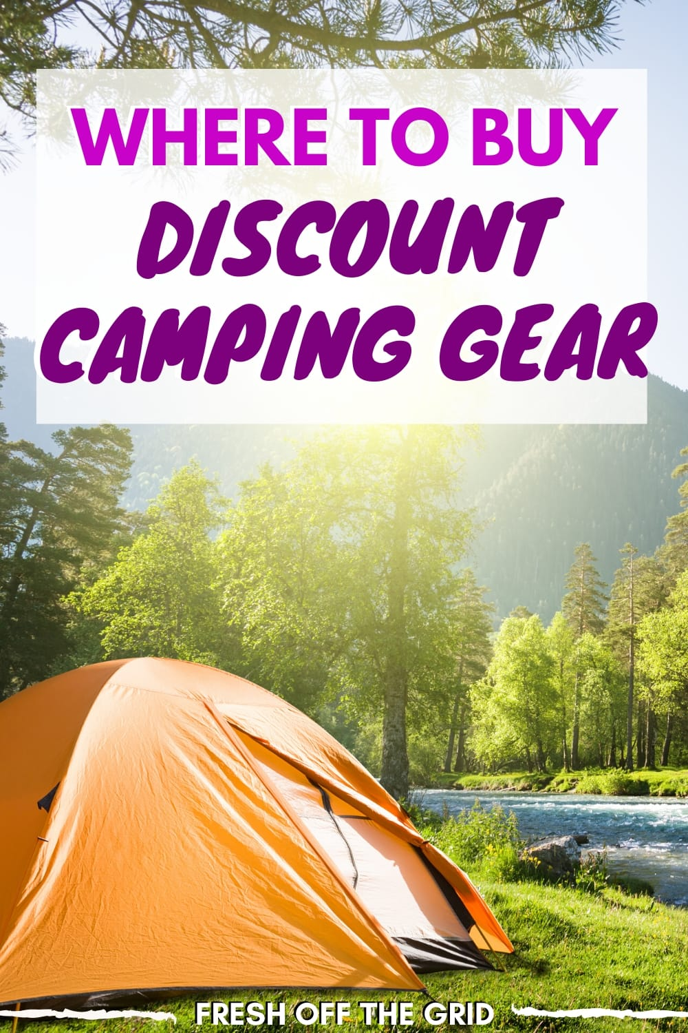 Upgrading your camping equipment this season? Be sure to check out these discount camping gear sites to score some great deals on outdoor gear. We've even included some great coupons and discount codes to save you some serious cash. via @freshoffthegrid