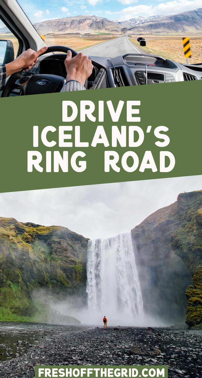Iceland's Ring Road is a bucket list destination! Read all about the best stop for an Iceland road trip with our Iceland Ring Road Itinerary! via @freshoffthegrid