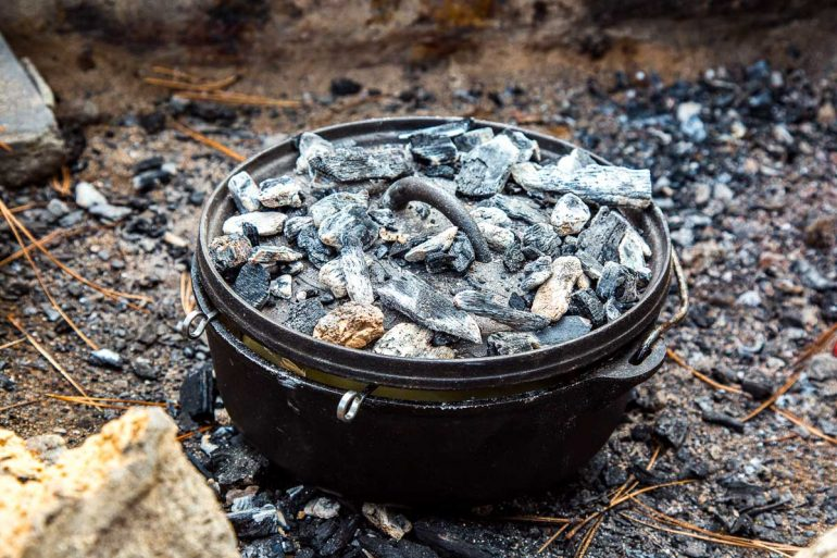 How to Cook with a Dutch Oven while Camping