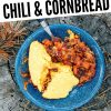 """Pinterest graphic with text overlay reading """"Dutch oven chili and cornbread"""""""